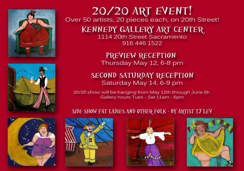 20 20 art show postcard