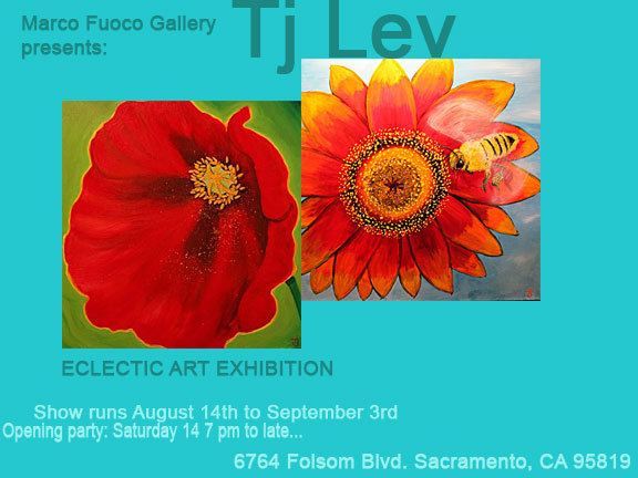 Post card for the Marco Fuoco Gallery Second Saturday art show.