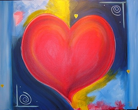 Big Juciy Heart painting