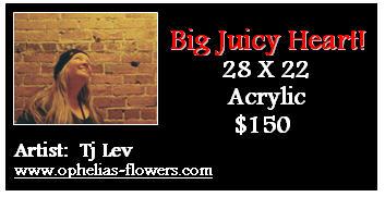 label for big juicy heart