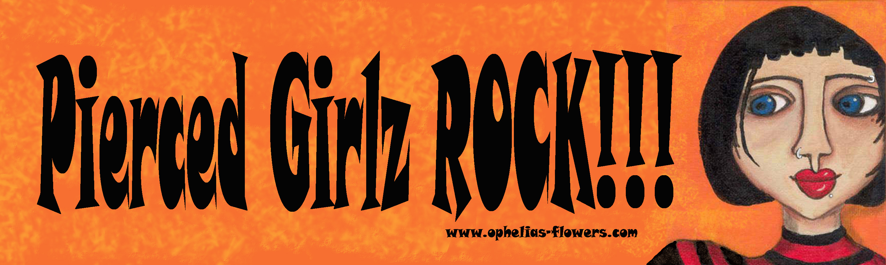 pierced girlz rock sticker