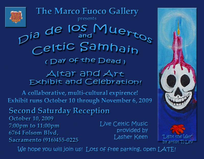 Day of the dead show postcard