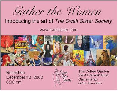 Swell Sister Society show post card