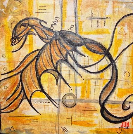 Thaddeus dragon, acrylic